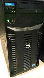 Dell tower T310: 4 cores / 8 threads + 24GB RAM+ 600 GB SAS