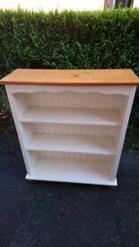 Book shelf shabby chic cream/off white and pine