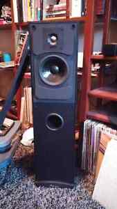 Tower speakers by Mirage