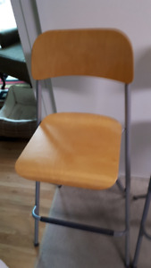 TWO (2) IKEA  FRANKLIN FOLDABLE CHAIRS BARSTOOLS