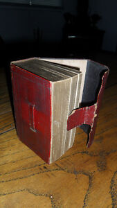 Antique 1844 leather holy bible