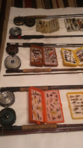 6 Lignes a Mouche Cannes et Moulinets Fly Fishing Rods and Reels
