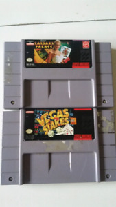 1 Vegas palace &1 Vegas stakes snes games both 15$