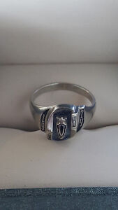 10kt White Gold Class Ring 1974 Letters C.O.K Sz 6