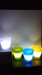 """LED Light Battery Operated Indoor Flower Pot Planter 5"""" Tall .."""