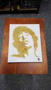 Mick Jagger Burnt Art Stratford Kitchener Area image 1