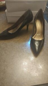Patent Leather & Beige shoes barely used