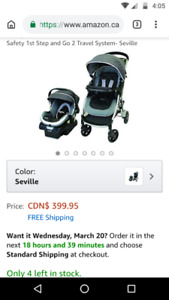 Safety First Step And Go Travel System w/ Extra Base