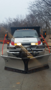 ***GMC C5500 4X4 with stainless steel plow and salter***