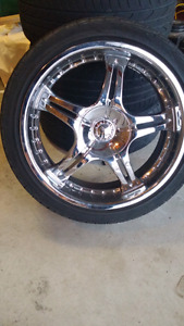 18 Chrome rims with tires