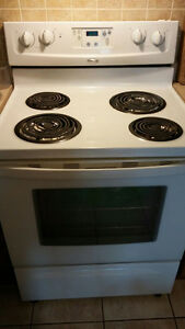 White whirlpool stove/oven