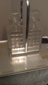 Very Rare Pair of Glass Decanters mid 1800's