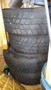 Four winter snow tires and rims  Kitchener / Waterloo Kitchener Area image 3