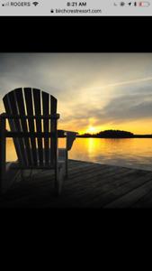 Gorgeous waterfront trailer for sale at Birch Crest Resort
