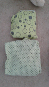 Crib sheets, playpen sheets, ikea leaf, crib bedding