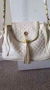 White Purse with gold detailing