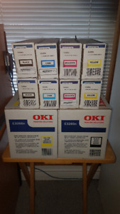 Brand new Oki C3200n Printer Image Drums and Toner Cartridges