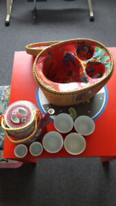 Chinese teapot with matching cup set- excellent condition