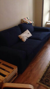 navy ikea couch