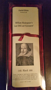 William shakespeare's last will and testament