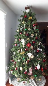 Beautiful Aritificial Christmas Tree and assorted decorations