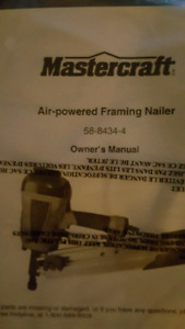 MasterCraft 3 1/2 inch Air Framing or all purpose nailer