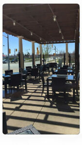 Selling full patio furniture set for a restaurant