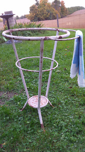 Wash Bowl and Jug Stand with Towel Bar