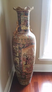Chinese hand painted Vase over 6 feet tall