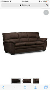 Brown Suede Leon's sofa - Perfect Condition