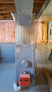 Oil furnace and ductwork work