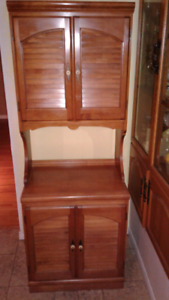 Old solid wood cabinet