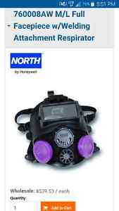 Full face welding mask with respirator