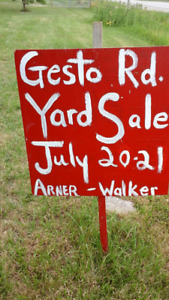 GESTO RD. CTY. RD. 12 ESSEX. ANNUAL NEIGHBOURHOOD  YARD SALES.
