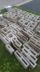 Cinder blocks cement blocks