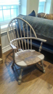 150 year old Antique Chair - Windsor Back - Rush Seating