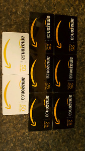 $250 Worth of Amazon gift cards