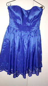FS: Prom Dress (Strapless, Royal Blue) with attachable straps