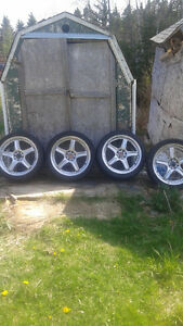 "18"" 4 Bolt Universal Rims & Tires"