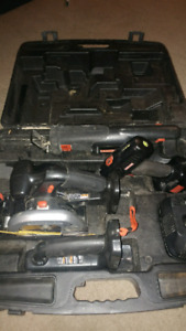 EXCELLENT DEAL Circular saw, sabre saw, light drill n charger
