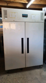 Polar commercial double doors chiller fully working excellent conditio