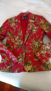 Tristan & Iseut Red Floral Blazer