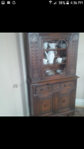 Antique buffet and China cabinet reduced from 900 to 500 need go