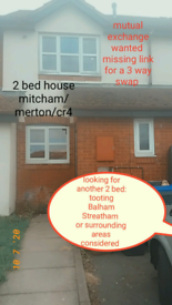 House exchange/serious swappers only/Mitcham cr43ra