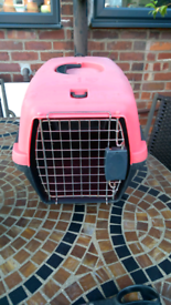 Pre loved cat carrier fully cleaned and disinfected with anistel