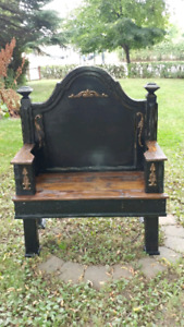 Beautiful black entrance bench