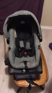 Car seat and stroller $150.00.  Car seat clips onto stroller.