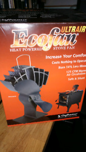 Ecofan Ultrair heat powered stove fan $80 OBO
