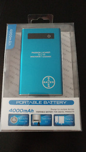 Power Bank 4000mAh, Portable Battery for phone, camera, mp3, psp