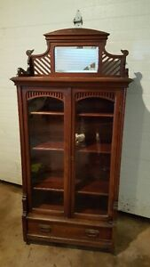 Antique China/Book Cabinet